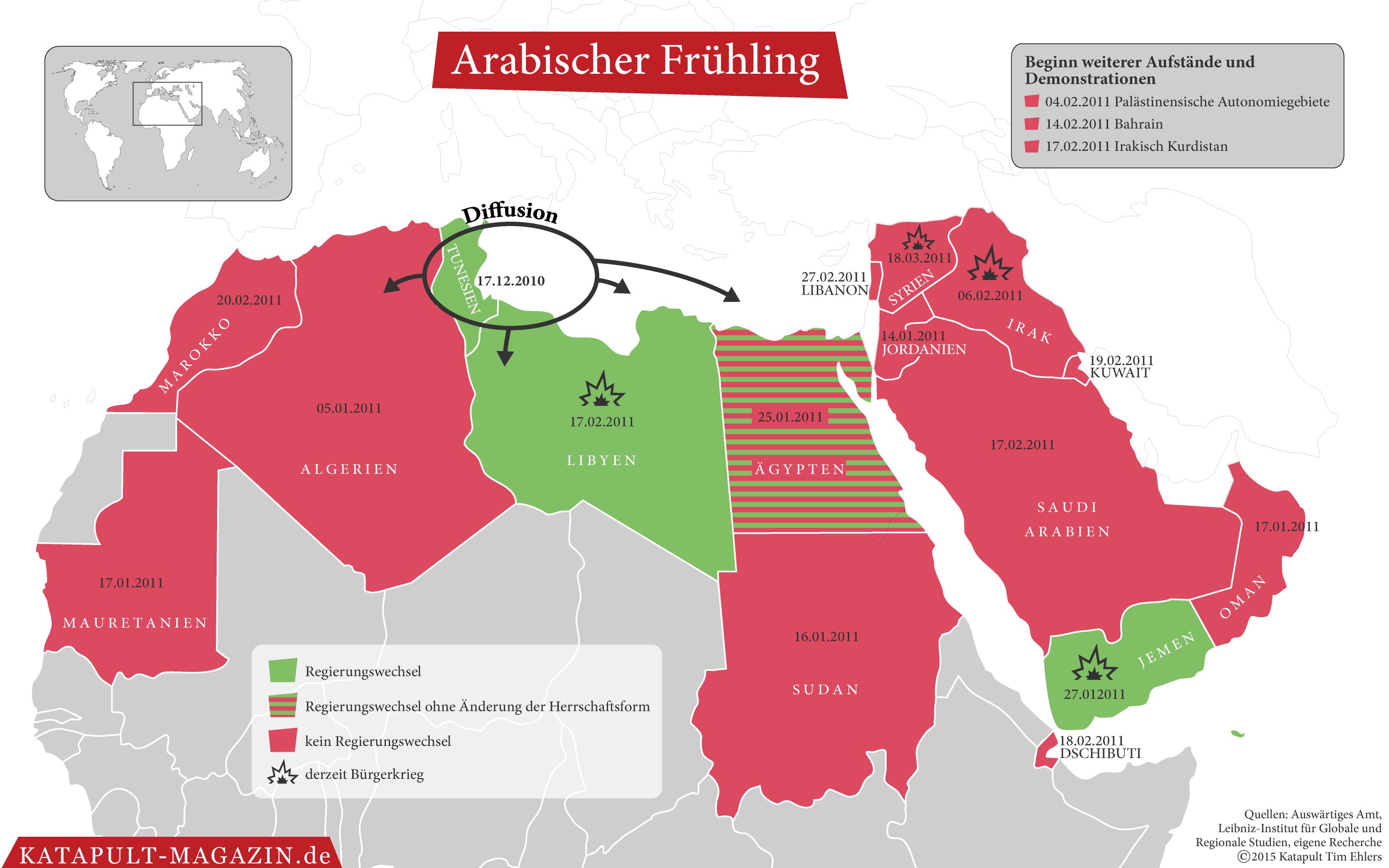 Tunesien Karte Welt.Katapult Arabischer Winter