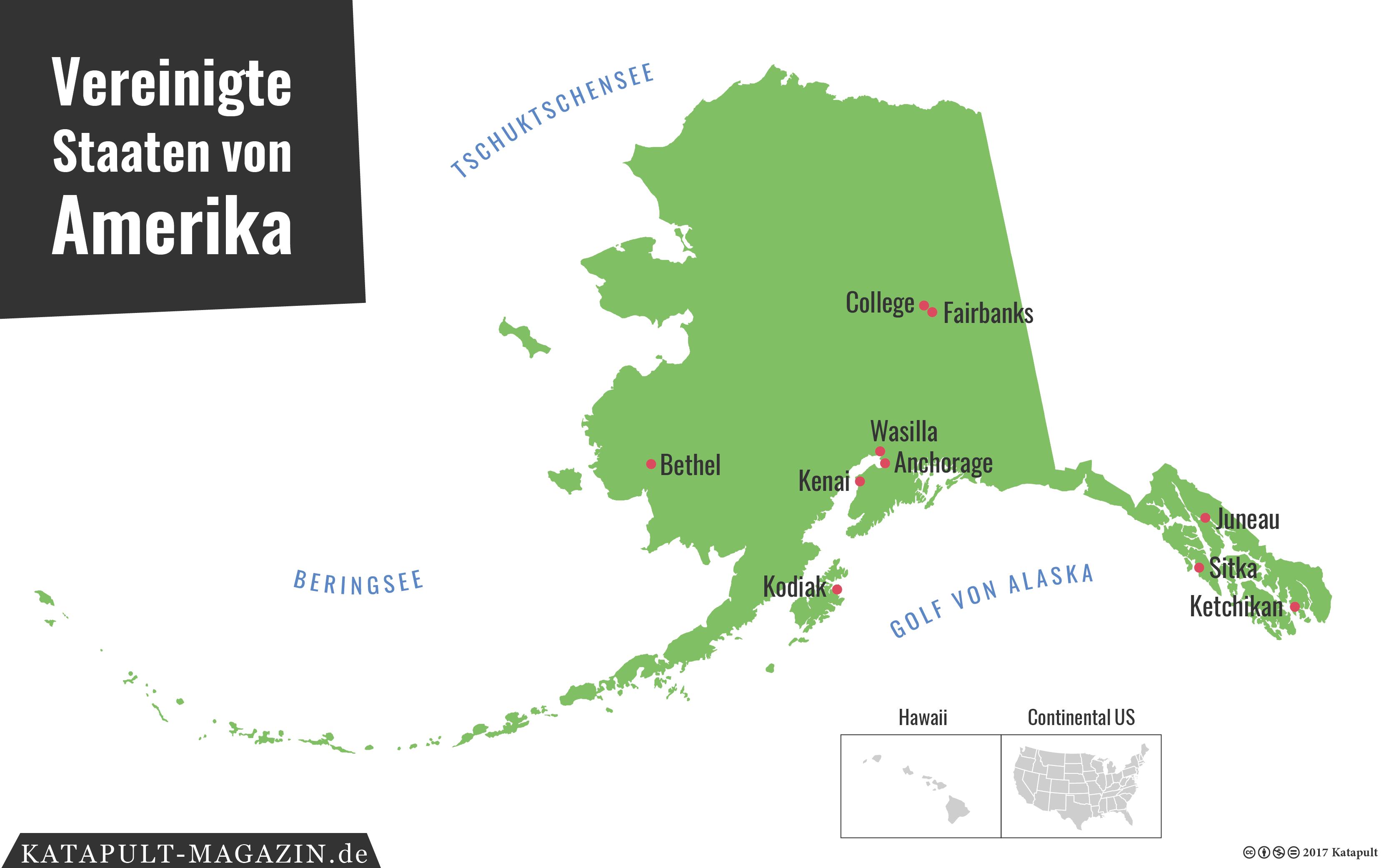Golf Von Alaska Karte.Katapult Die Usa Aus Der Sicht Alaskas