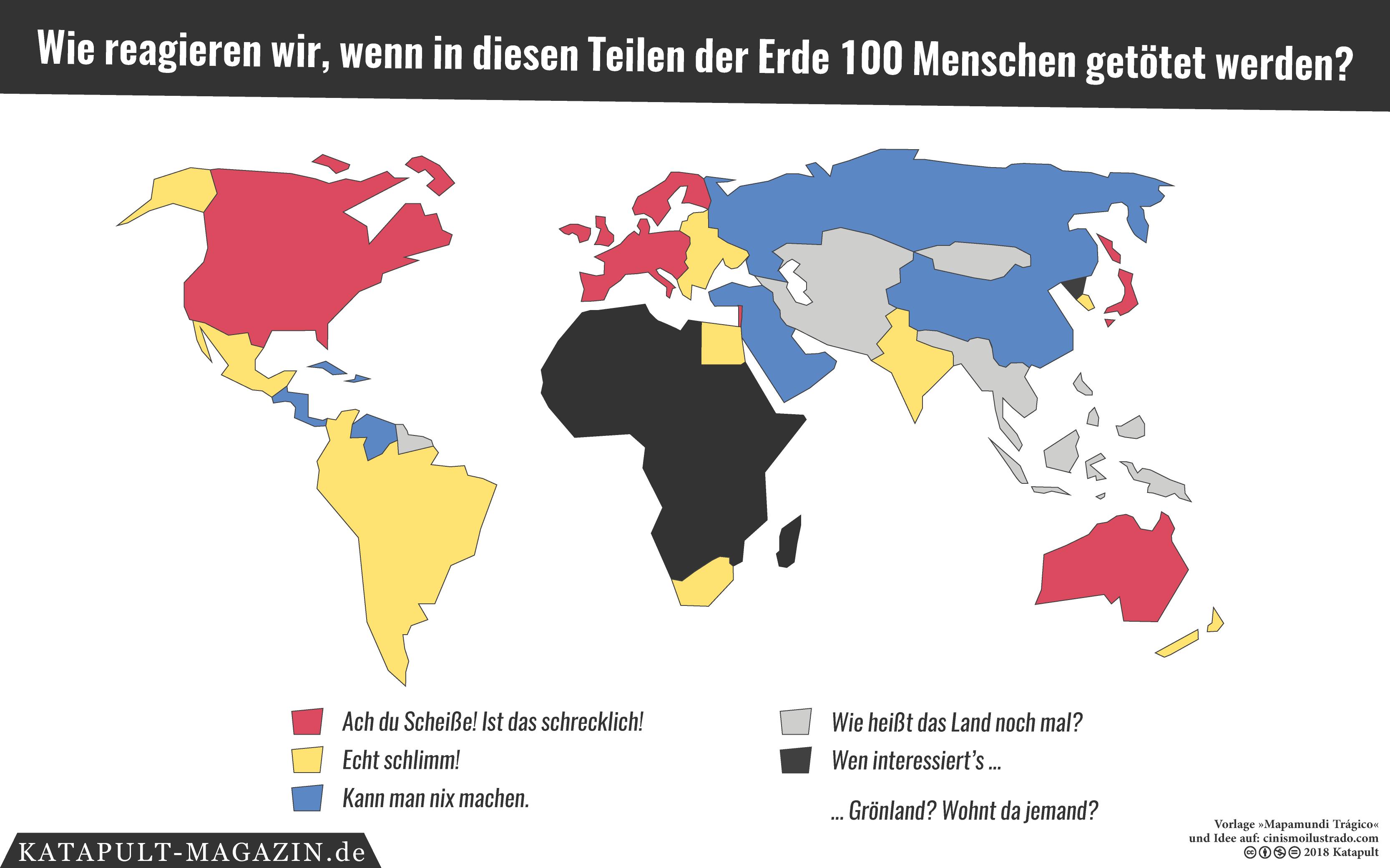 Katapult-Magazin: Wie reagieren wir, wenn in diesen Teilen der Erde 100 Menschen getötet werden?