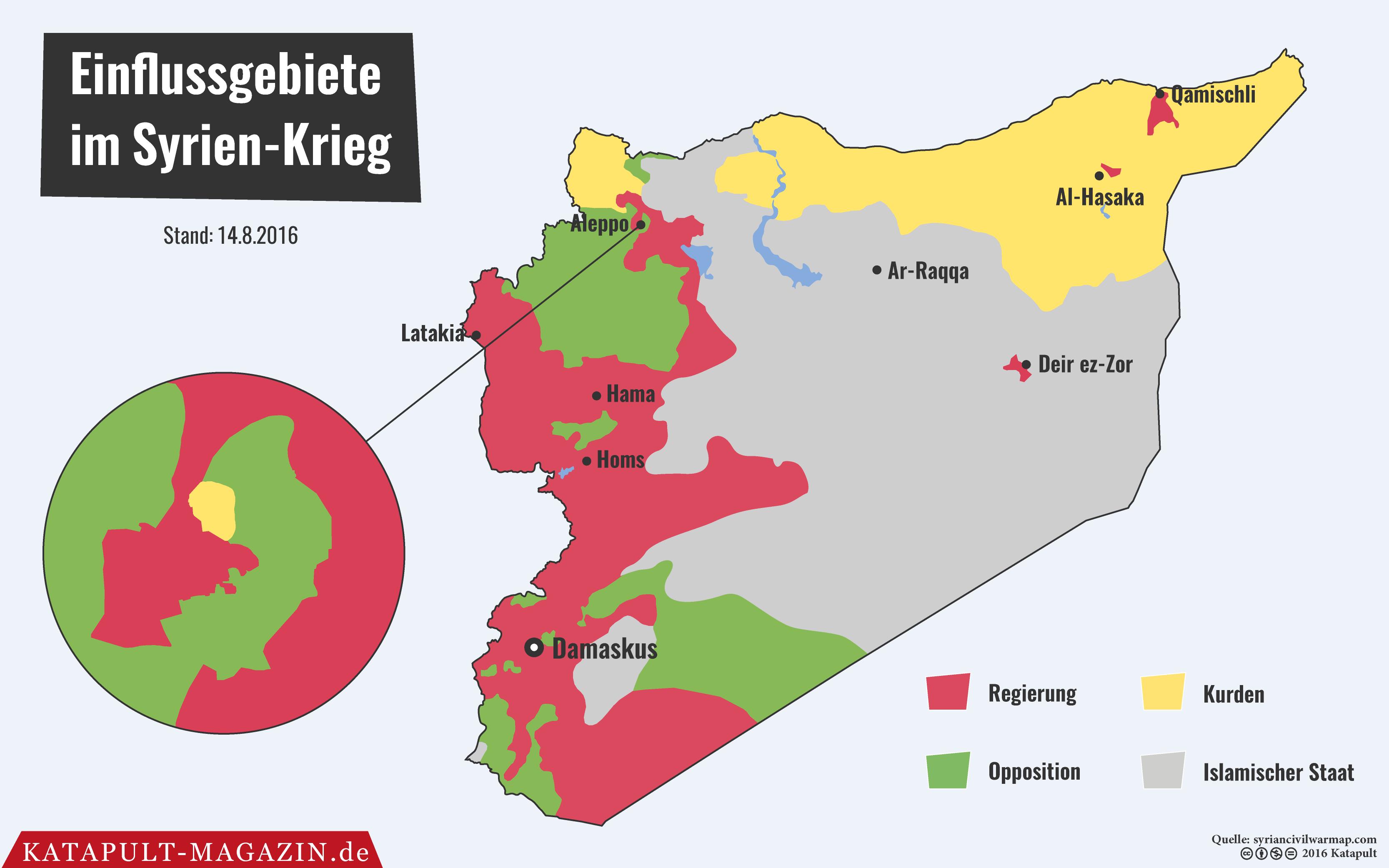 Syrien Krieg Karte