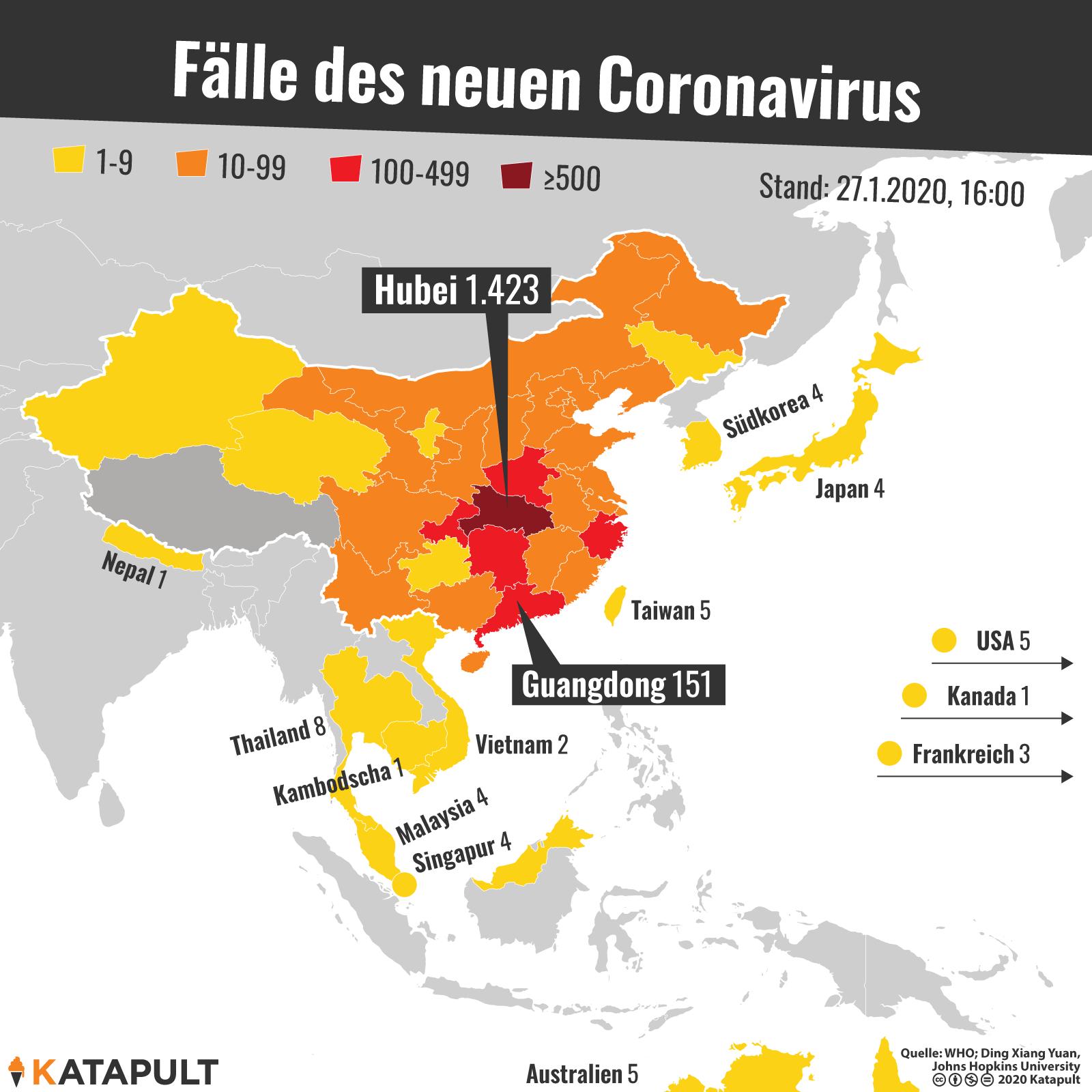 Coronavirus Erkrankte Weltweit Karte