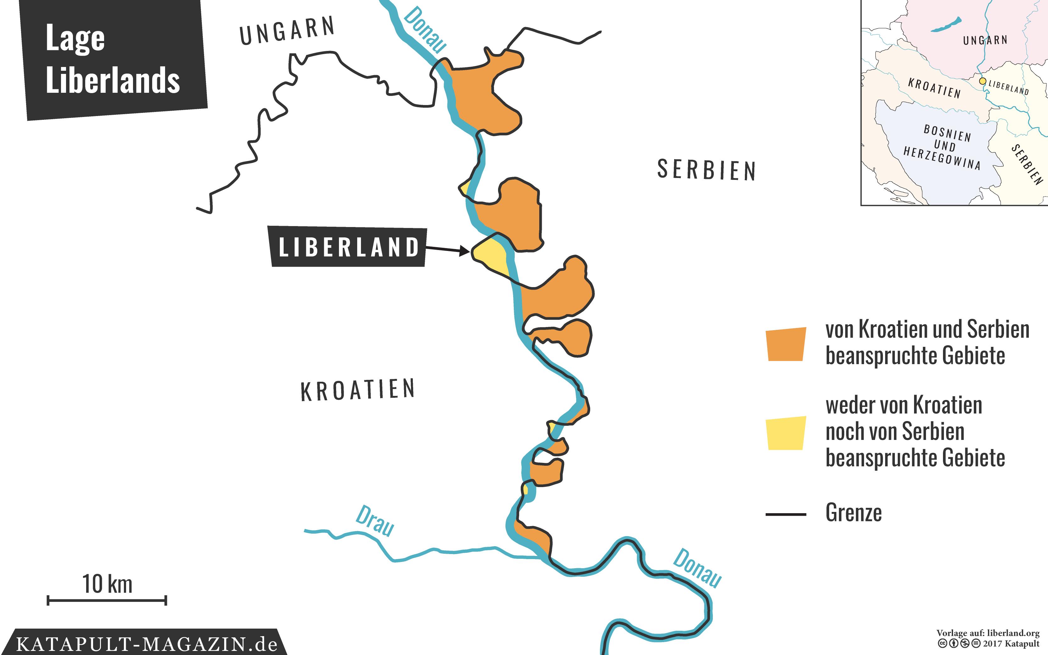 Alte Jugoslawien Karte.Katapult Zutritt Verboten Unbewohnter Mikrostaat Auf Dem